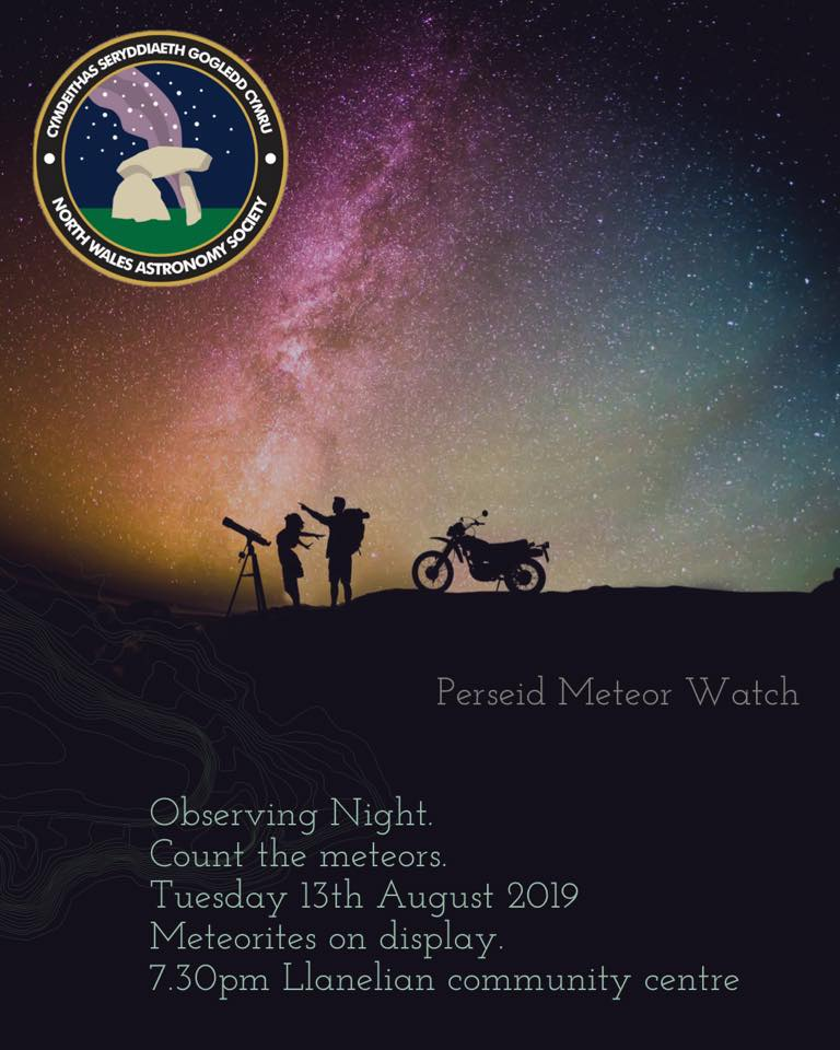 North Wales Astronomy Society Observing Night (Perseids Meteor Watch)