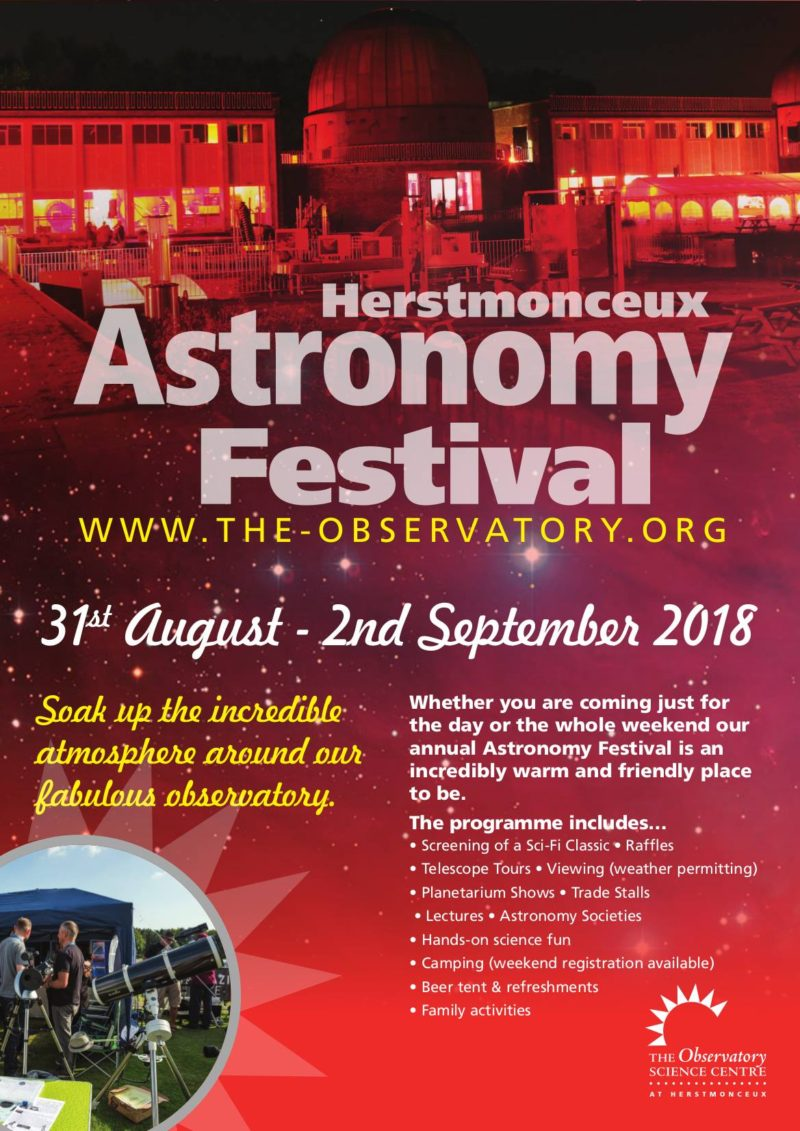 Herstmonceux Observatory Astronomy Festival 2018
