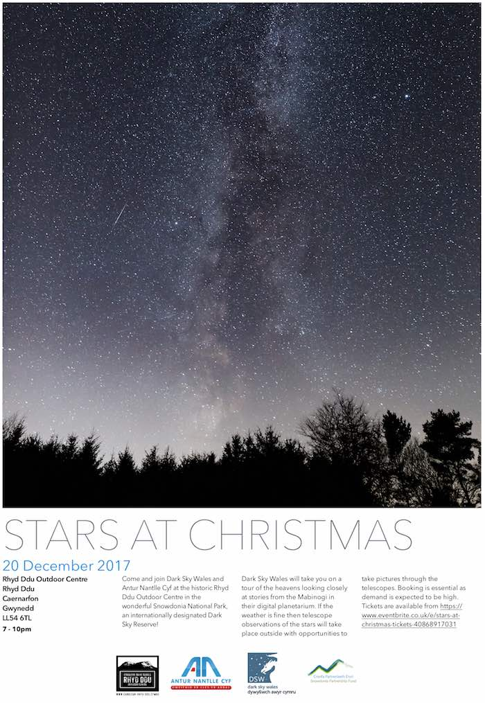 Stars at Christmas with Dark Sky Wales