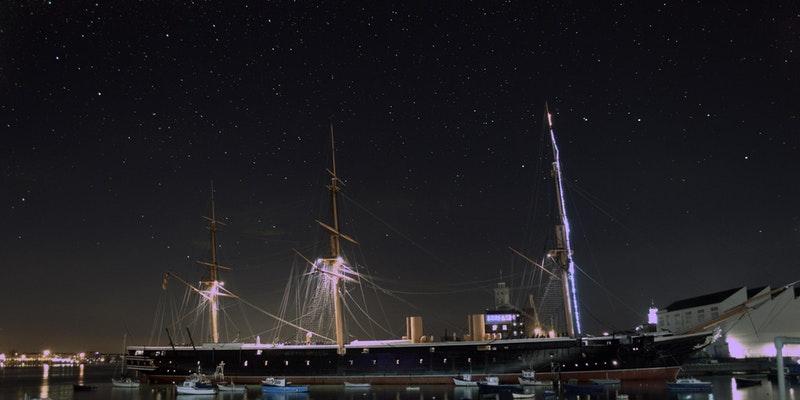 Stargazing at Portsmouth Historic Dockyard 2020