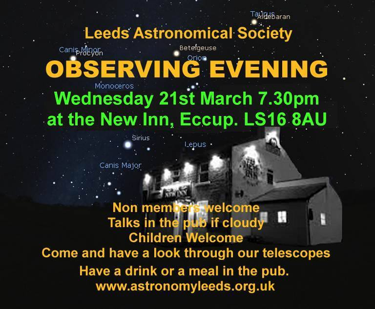 Observing Evening with Leeds Astronomical Society