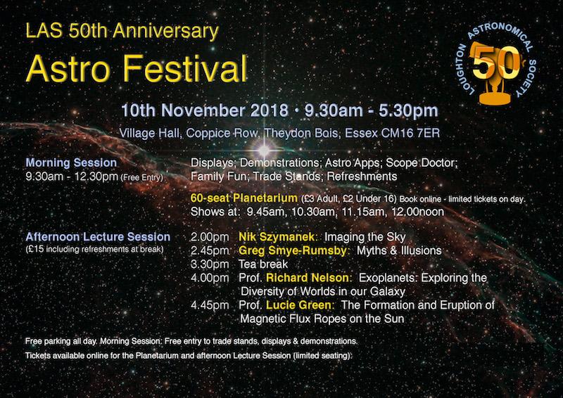 Loughton Astronomical Society 50th Birthday Festival