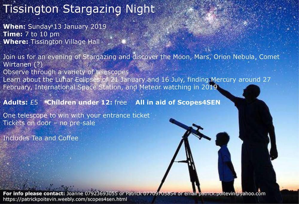 Tissington Stargazing Fundraiser for Scopes4SEN