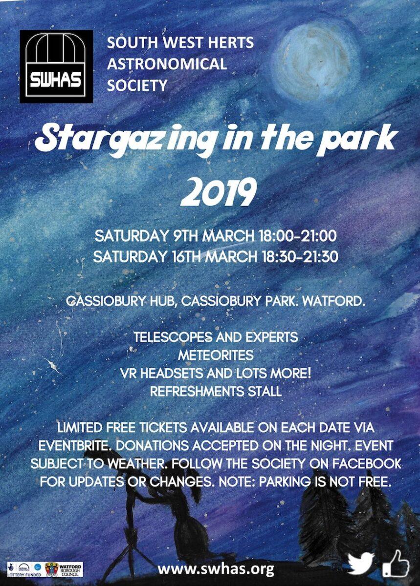 Stargazing in Cassiobury Park