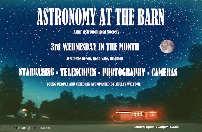 Astronomy at the Barn with Adur Astronomical Society