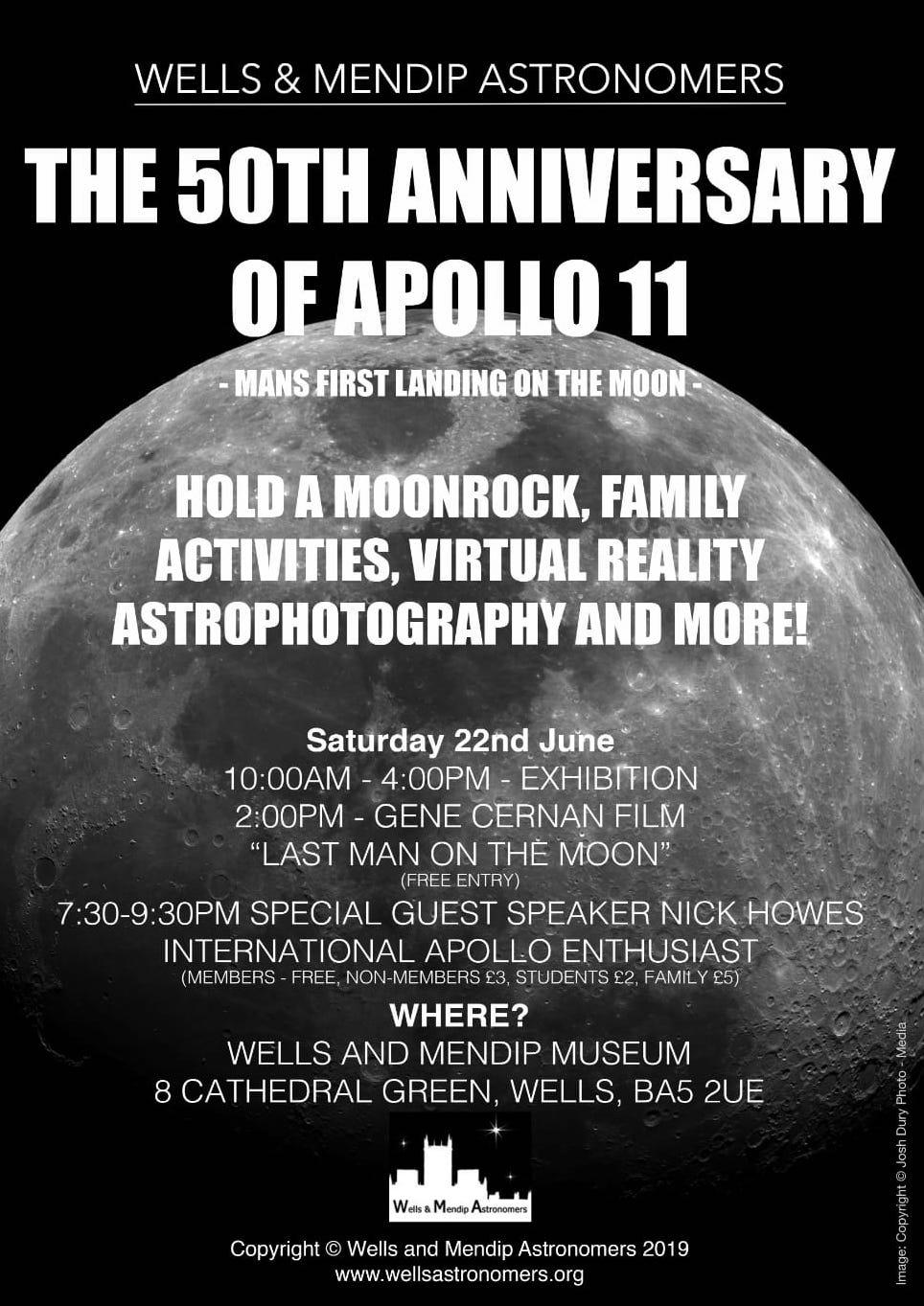 50th Anniversary of Apollo Exhibition - Go Stargazing