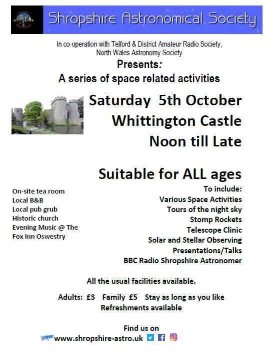 Whittington Castle Stargazing