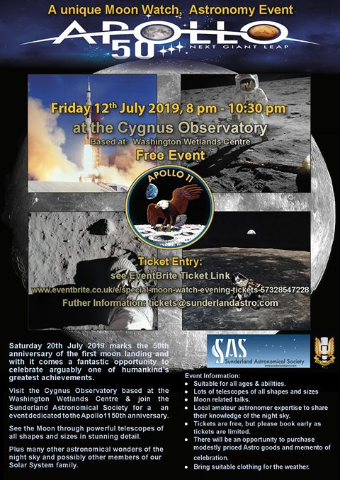 Sunderland Astronomical Society Apollo Moon Watch