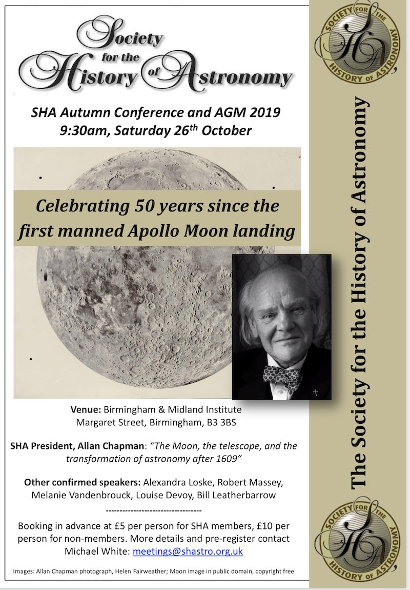 Society for the History of Astronomy Celebrates the 50th Anniversary of Apollo