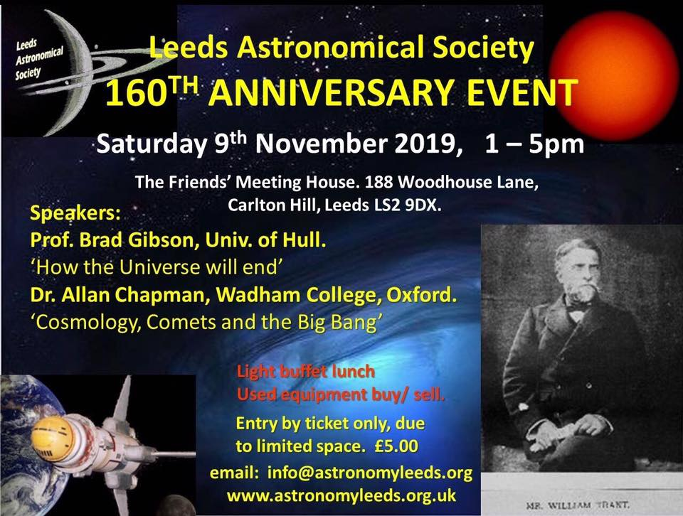 Leeds Astronomical Society 160th Anniversary
