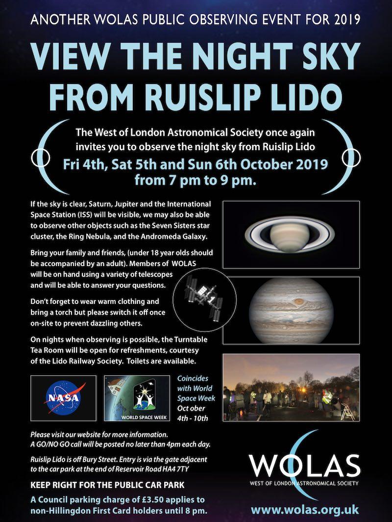 Public Observing at Ruislip Lido