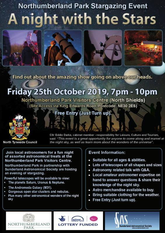 Stargazing at Northumberland Park with Sunderland Astronomical Society