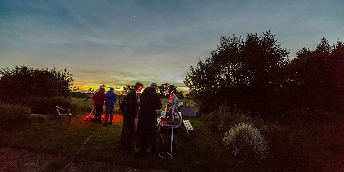 Stargazing in Forest of Bowland at Bleasedale