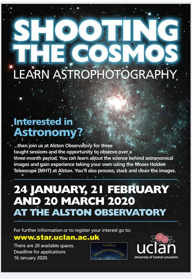 Shooting the Cosmos Astrophotography Course at Alston Observatory