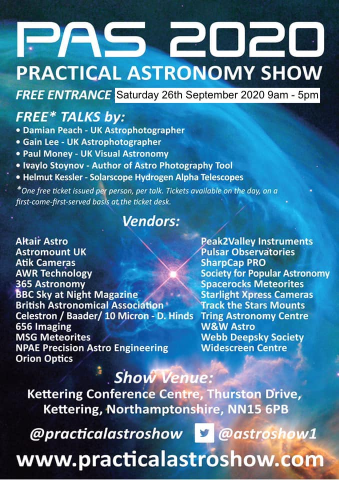 Practical Astronomy Show 2020 (Free!)
