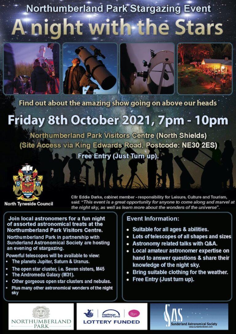 Sunderland Astronomical Society Northumberland Park October 2021